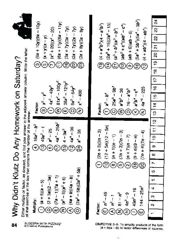 24 Double Cross Math Worksheet Answer Key Pre Algebra Puzzle Worksheets