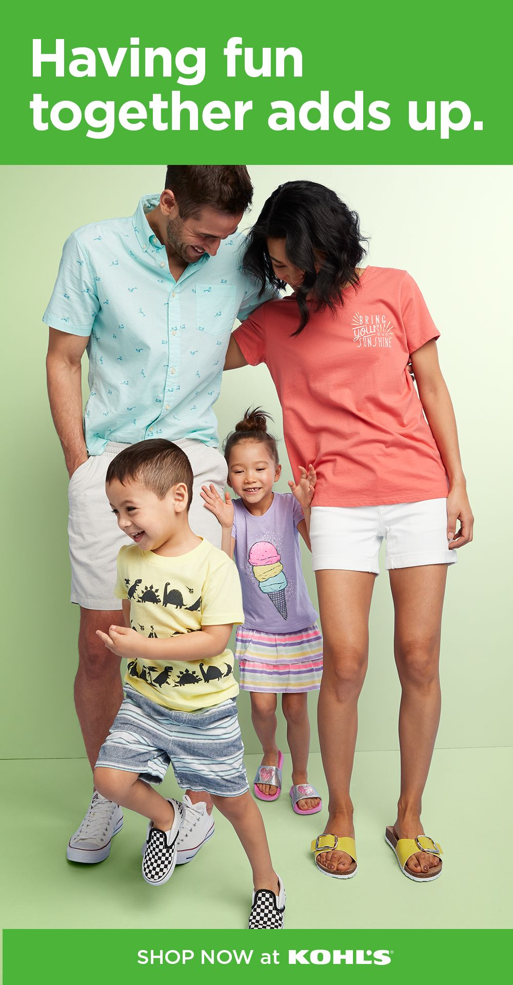 Find vacation clothing for the whole family at Kohl's