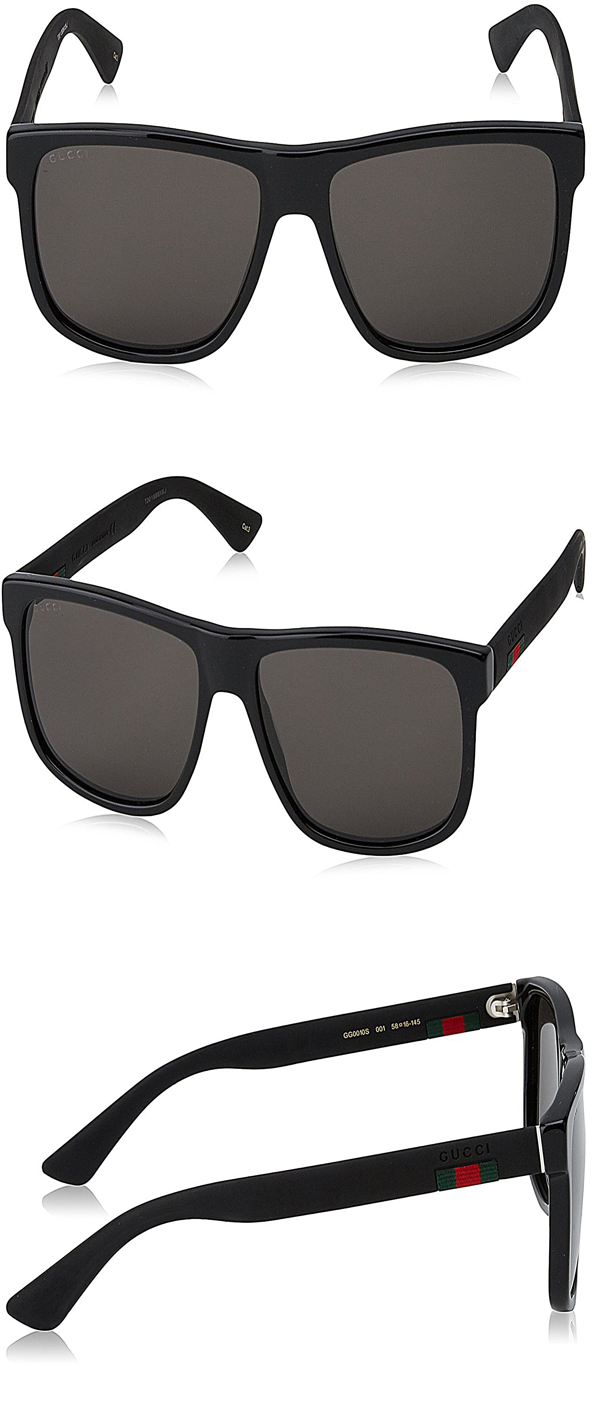 36956a20692e Gucci GG 0010 S- 001 BLACK/GREY Sunglasses mens sunglasses, sunglasses for  men