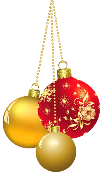 Transparent Christmas Ornaments PNG Clipart
