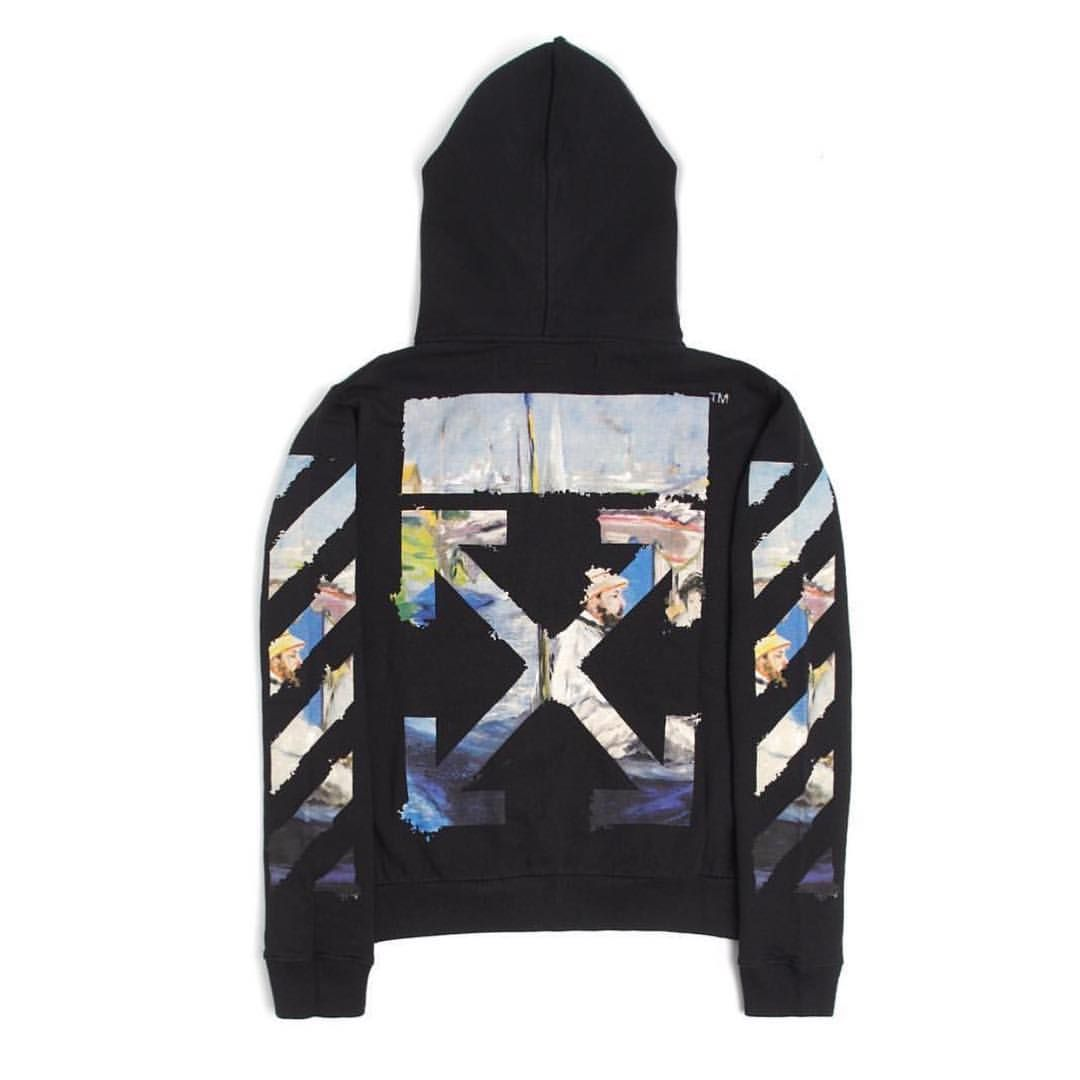 """929c89ebf resort19 men's Off-White™ hoodie from the collection titled """"Impressionism""""  via global flagships and @revivemichigan"""