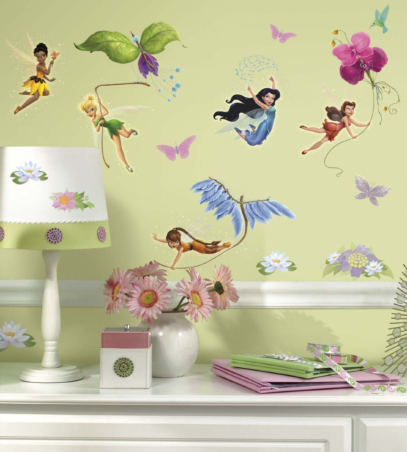 Amazon.com: Roommates Rmk1493Scs Disney Fairies Wall Decals With ...