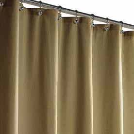 Style Selections Polyester Linen Solid Shower Curtain 72652 I Linn