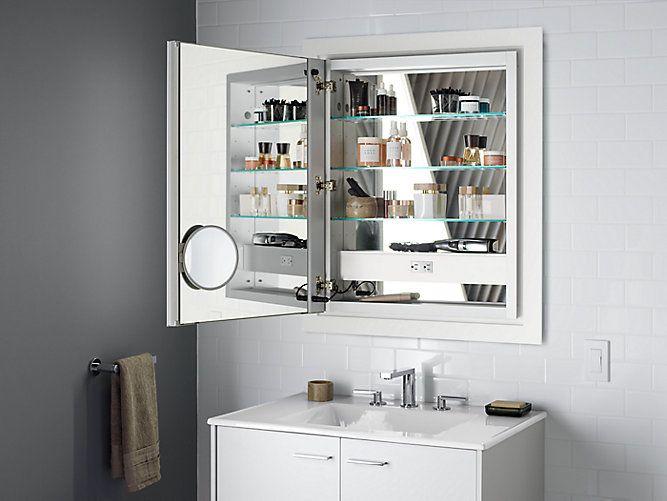 Vanity Lights Over Surface Mount Medicine Cabinet