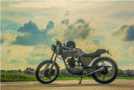 Honda CD Benly 125 Do Cafe Racer Bieu Tuong Mot Thoi