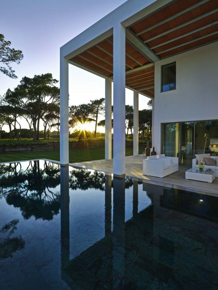 Traumhäuser Villa Mit Weißem Interieur Traumhaus Im Warmen