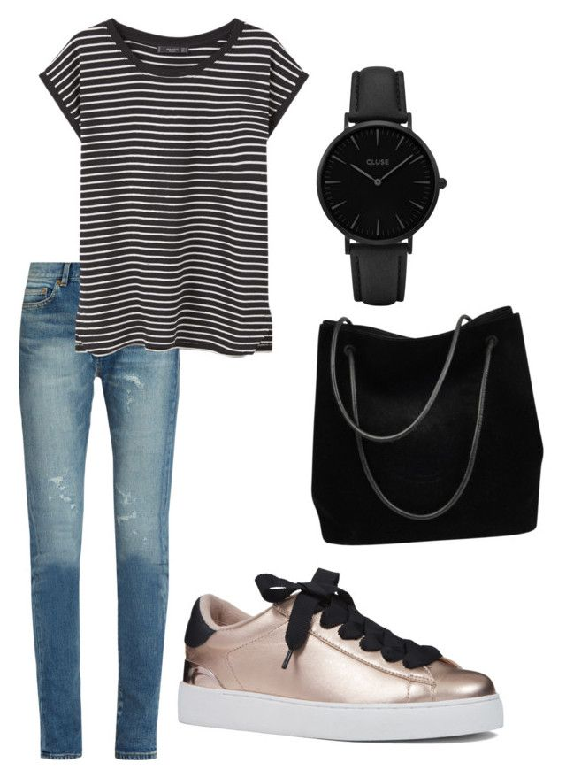 """""""Untitled #3"""" by majava on Polyvore featuring Yves Saint Laurent, MANGO, Nine West, CLUSE and Gucci"""