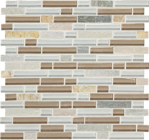 Mohawk Phase Mosaics Stone And Glass Wall Tile 5 8 Random At