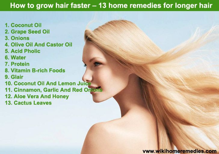 How to grow hair faster – 13 home remedies for longer hair | My stuff | Pinterest | Hair. Long hair styles and Home remedies