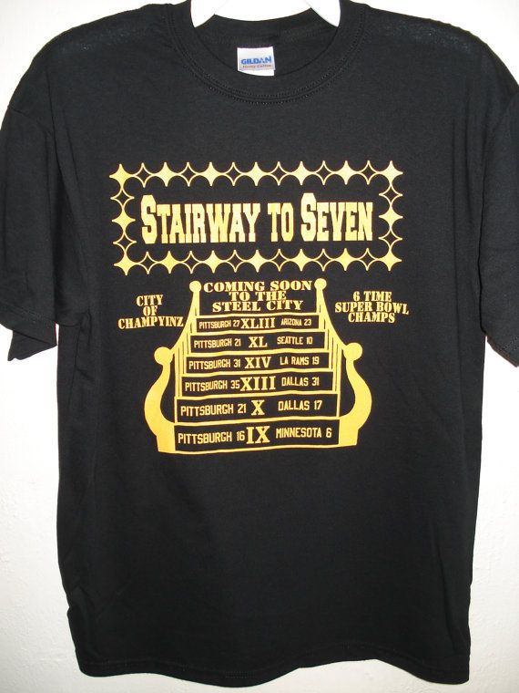 6d6f98724 BRAND NEW PITTSBURGH STEELERS STAIRWAY TO SEVEN BLACK T-SHIRT! THIS 100% PRE