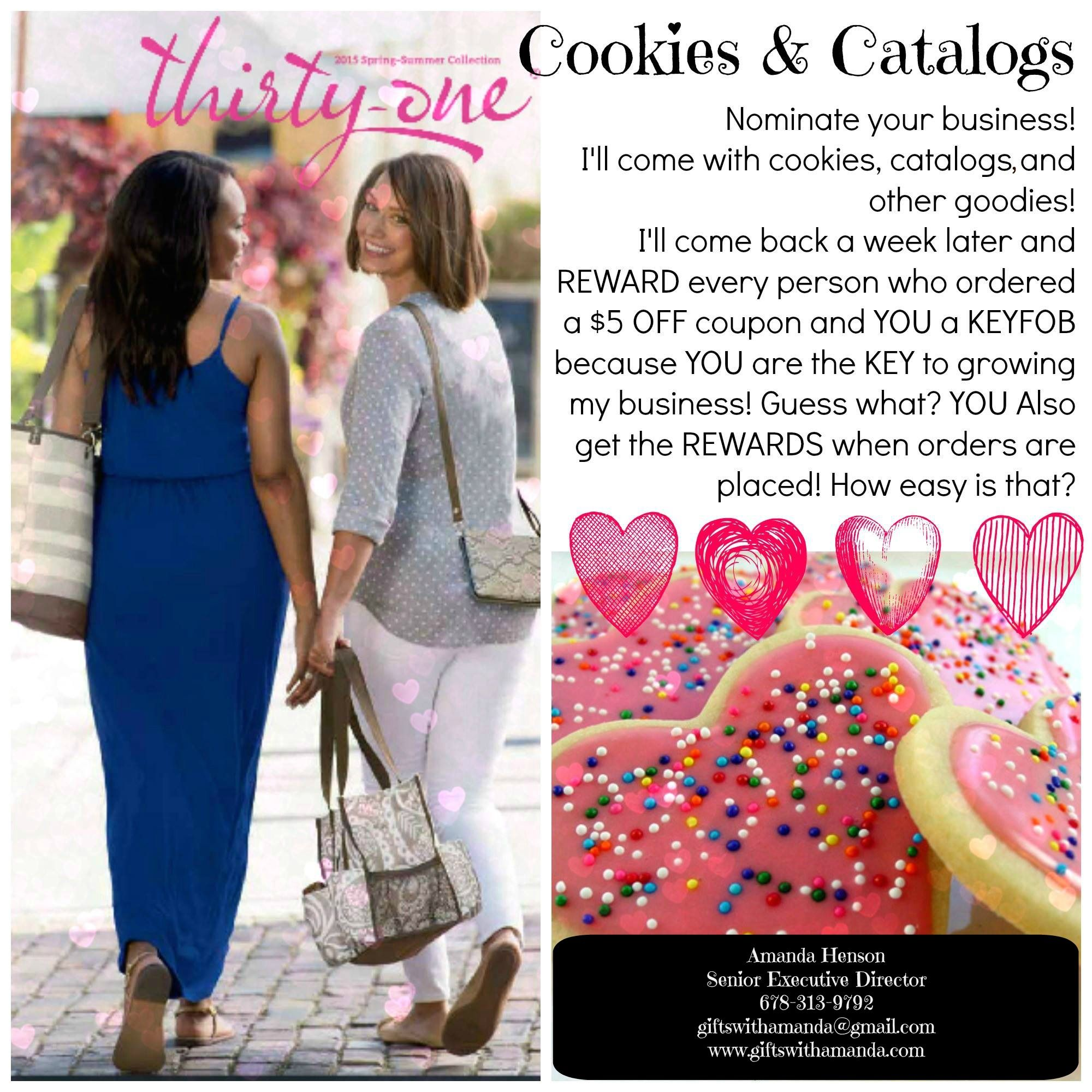 NOMINATION TIME!!!!   Cookies and Catalogs for your Office! Will be choosing a minimum one business per month! NOMINATE your Business! :) http://goo.gl/forms/ViGStzyOH4 Distance doesn't matters! Cookies and catalogs can be shipped! :)