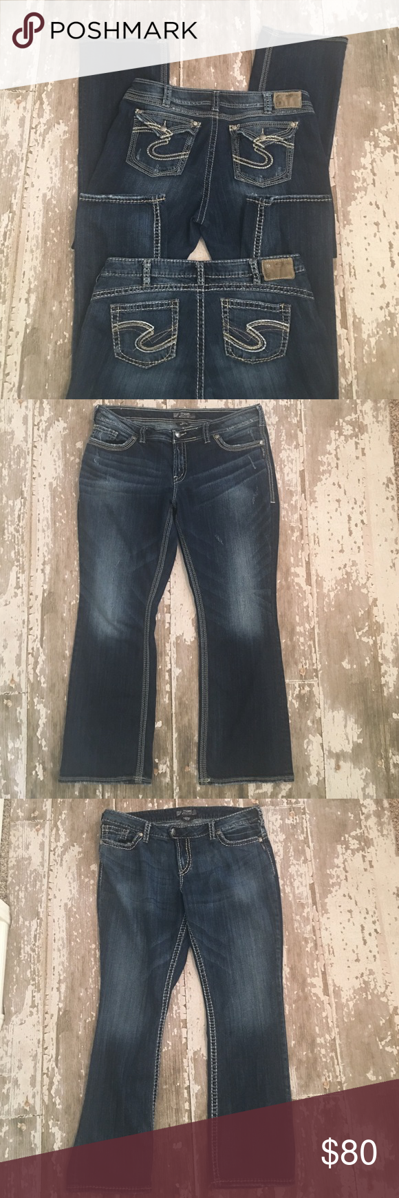 💙Silver Jeans Lot of 2 💙 Size 20 Women's Plus💙 | Stitching ...