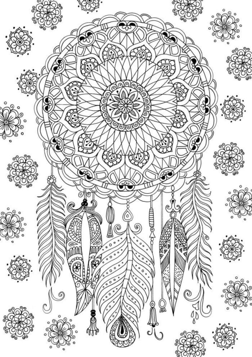 Dreamcatcher Colouring Dream Catcher Coloring Pages Mandala Coloring Pages Mandala Coloring