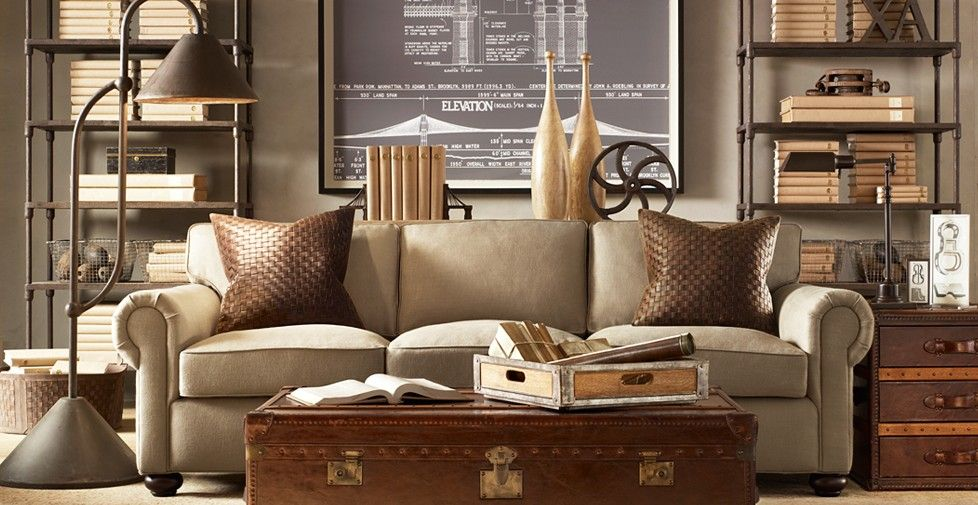 Restoration Hardware Living Room One Of My FAVORITE Shops Luv