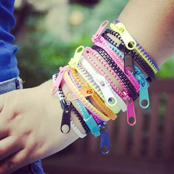 Zipper Bracelets.