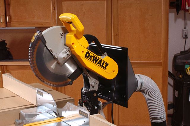 Miter Saw Dust Hood Modification Mitre Saw Dust Collection Miter Saw Mitered