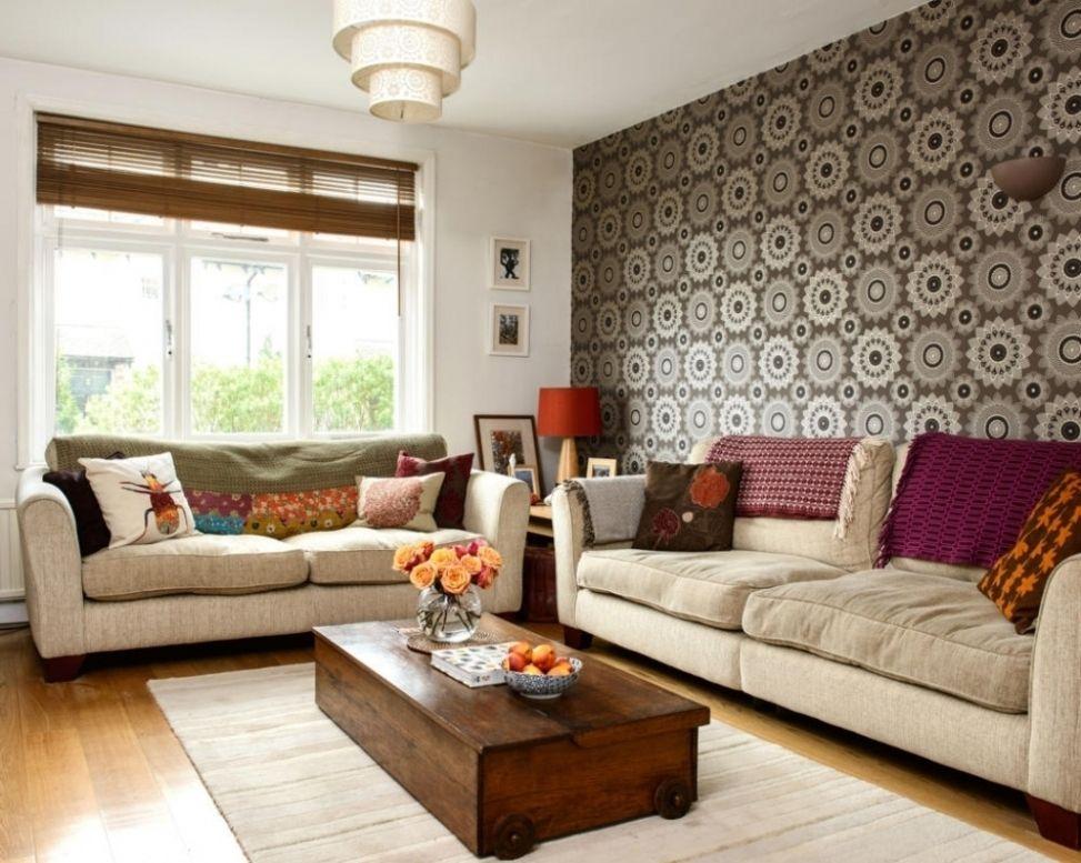 Frisch Wohnzimmer Tapezieren Ideen