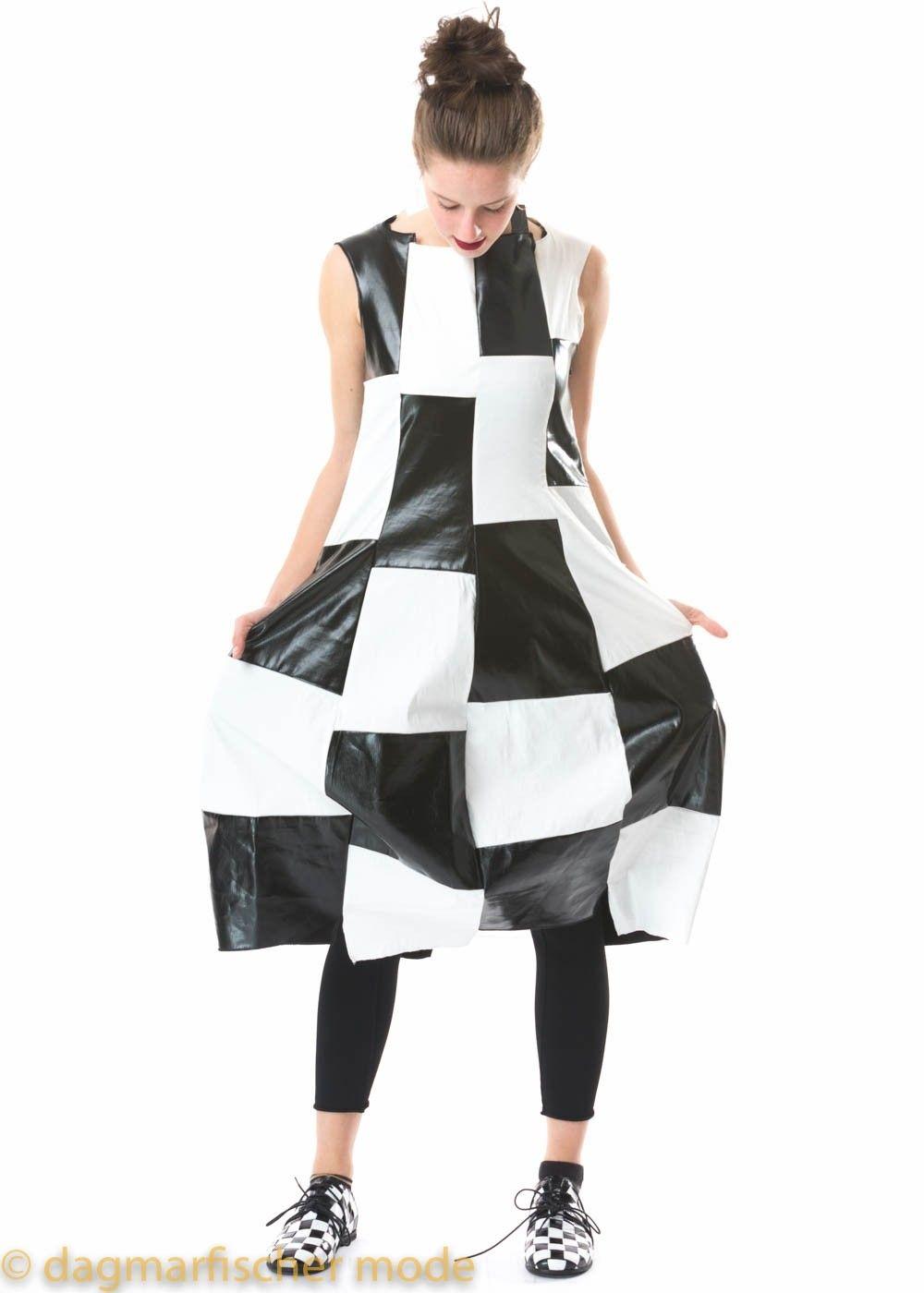 Kleid aus Stretchware im Schachbrett-Muster von RUNDHOLZ ...