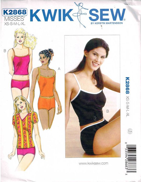 Sewing Pattern Boy Cut Underwear Panties Tankini Shirt Undergarments ...