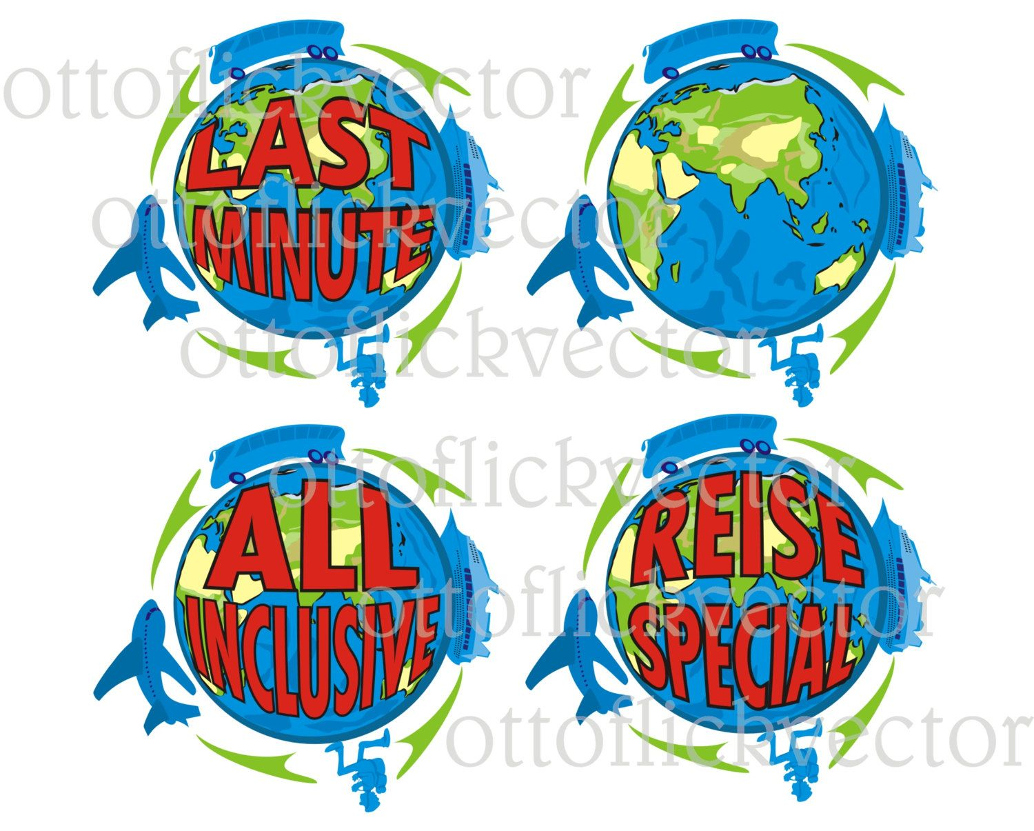TRAVEL CLIPART, VECTOR traveler, last minute, all inclusive eps ...