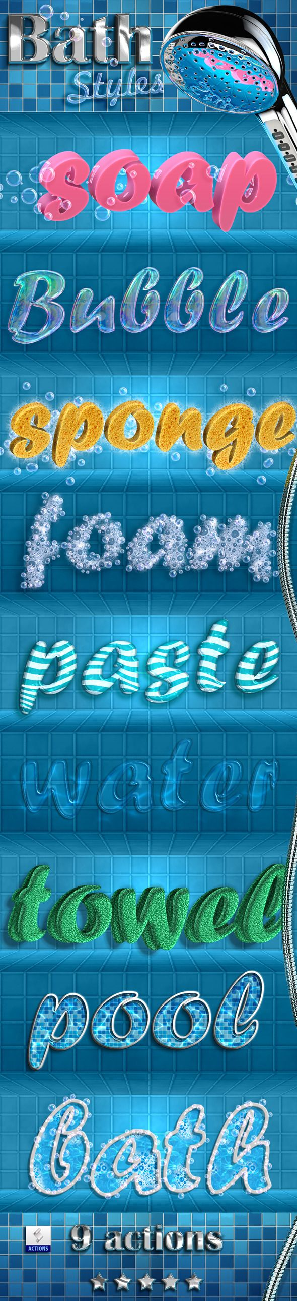 Bath Styles - Text Effects Actions