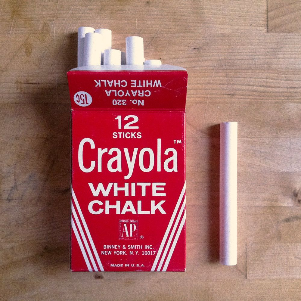 school vintage style CRAYOLA white chalk | Memories from ...