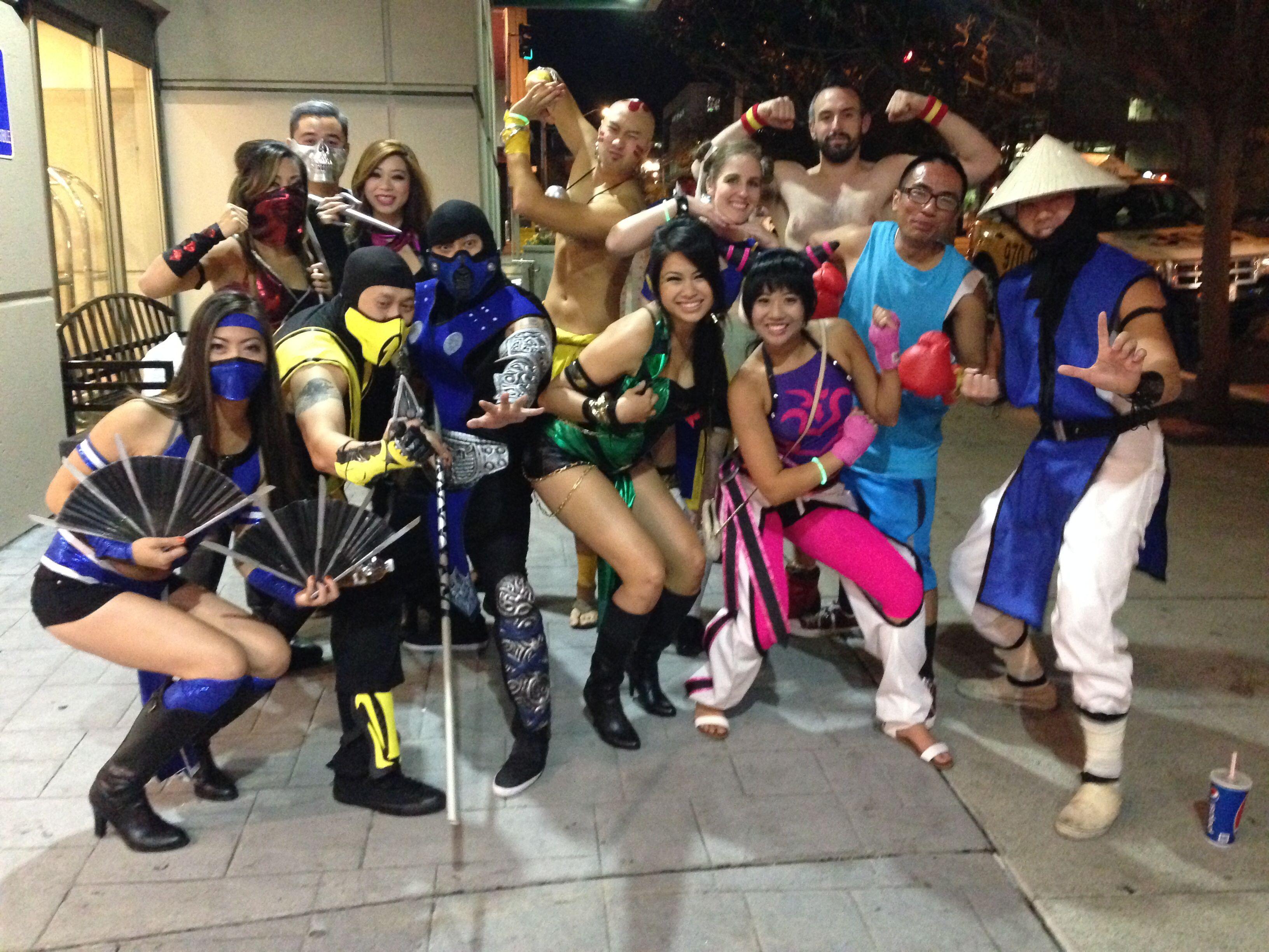 mortal kombat vs street fighter diy costume subzero scorpion jade mileena - Mortal Kombat Smoke Halloween Costume