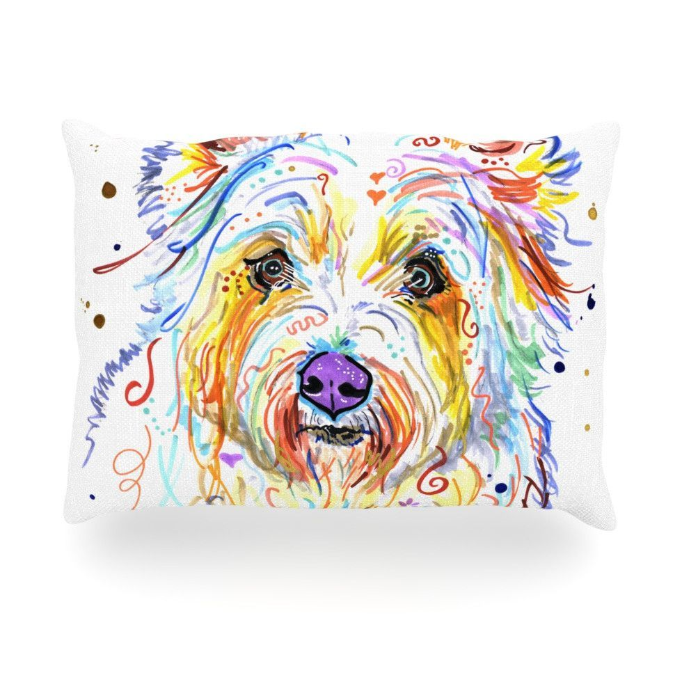 "Rebecca Fischer ""Bella"" Scottish Terrier Oblong Pillow"