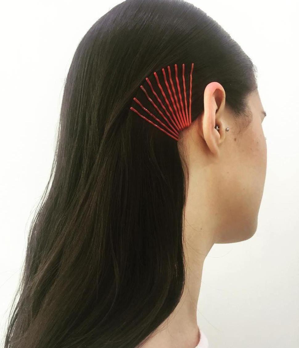 Slicked Back Hair With Bobby Pins Summer Hair Accessories Bobby Pin Hairstyles Slicked Back Hair