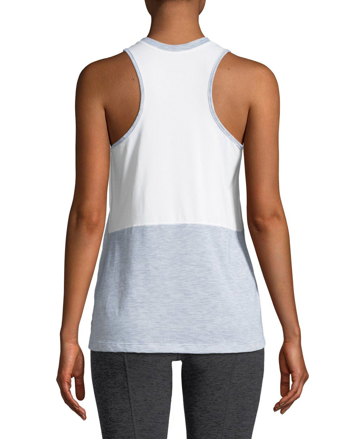 0b5f0fc7b Reactor Mesh-Panel Tank Top Light Gray | Products | Athletic tank ...