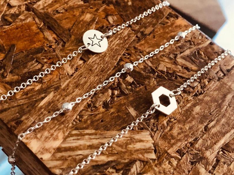 Photo of Bracelet Set for Women, Layering Bracelet, Silver Bracelets, Boho Bracelet Set, Bridesmaid Gifts, Dainty Jewelry, Multi Layer Bracelets.
