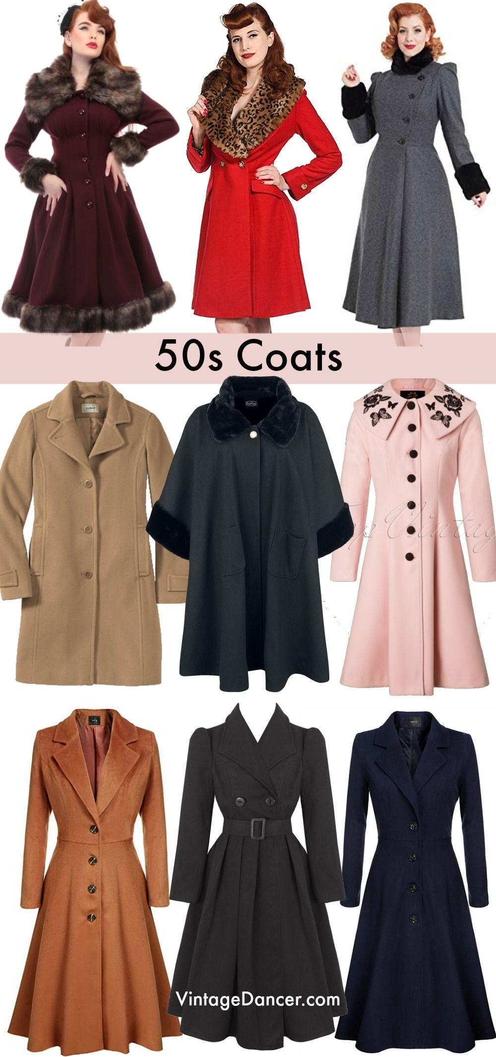 1950s Jackets and Coats #vintagefashion1950s