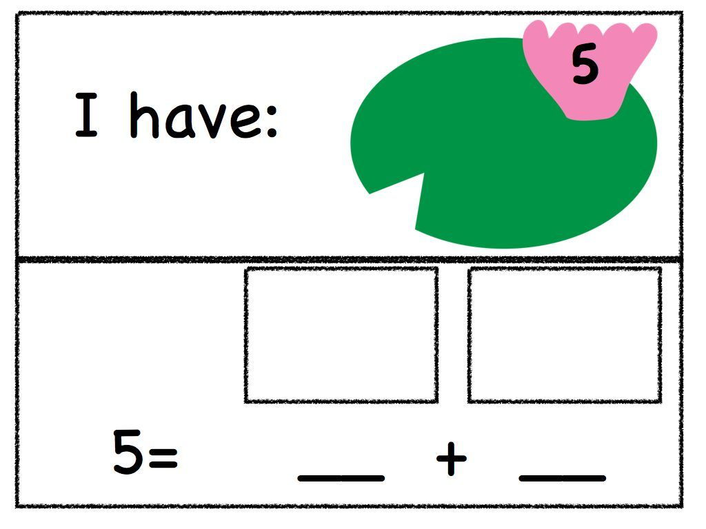 Decomposing Numbers For The Common Core Standards With