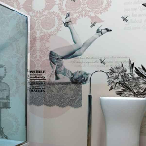 Badezimmer Tapete u2013 Waschbares Vinyl als Schmuckstück für die - neue badezimmer trends