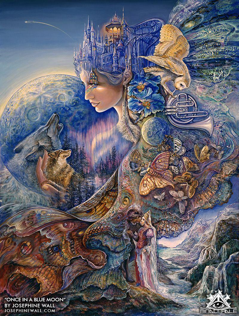 JOSEPHINE WALL ~ BUBBLE WORLD 24x36 FANTASY ART POSTER Fairy Fairies Earth