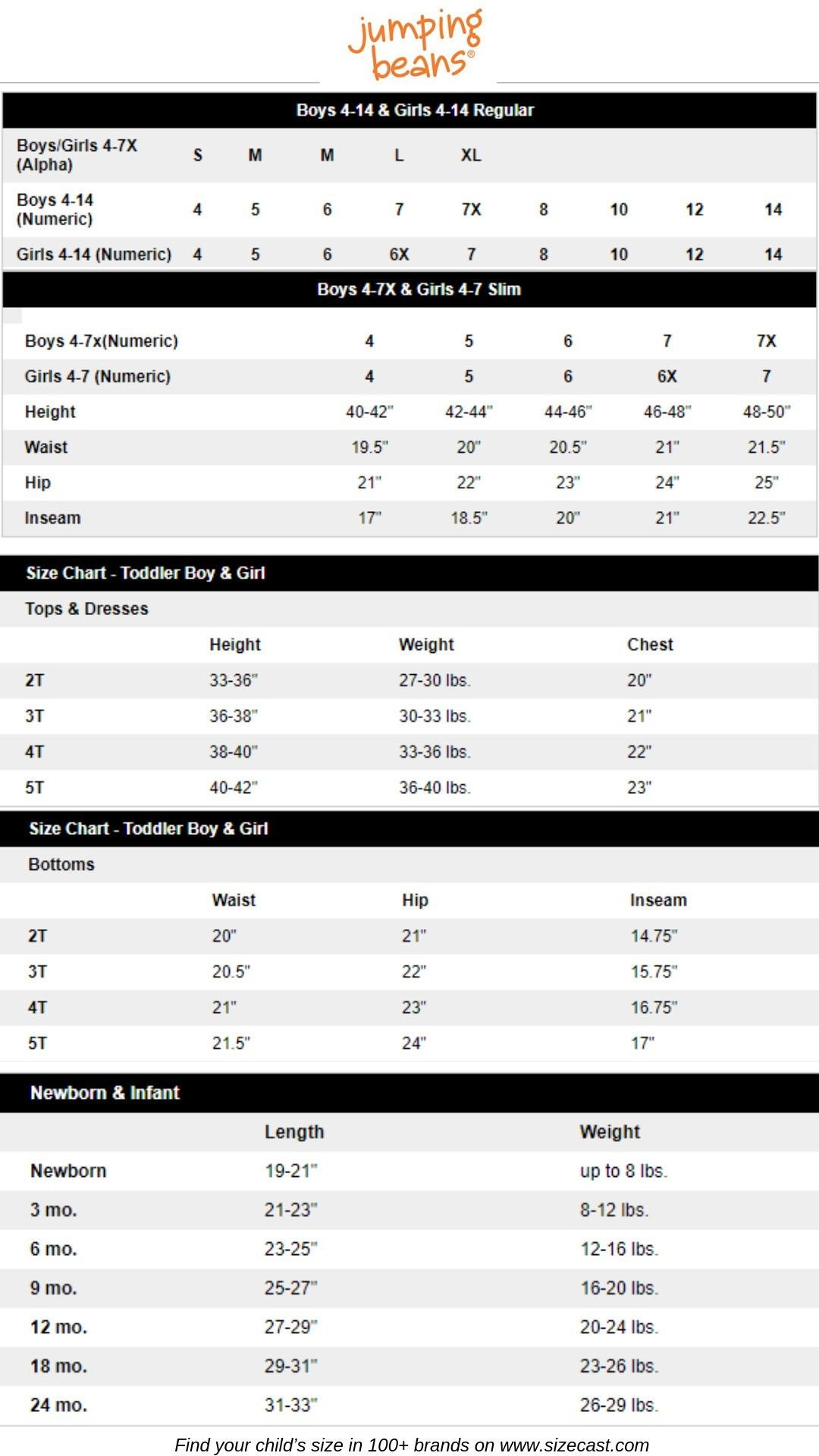 Pin On Baby Clothes Sizes