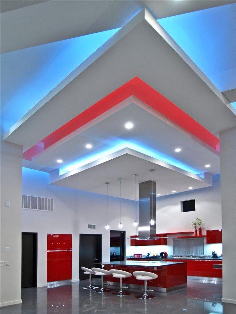 tiras de led en la cocina   cocinas rojas   Pinterest   Tiras de led ...