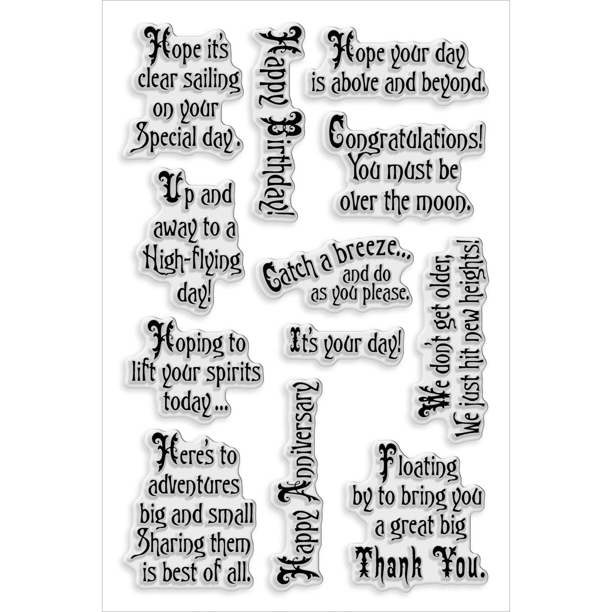 Stampendous Perfectly Clear Stamps Soaring Elets, , hi-res ...