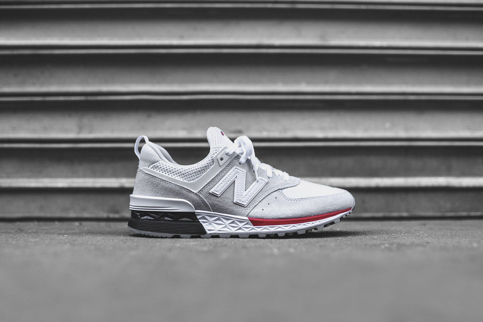 Sneakers Red White New Balance Sport 574 wqnvgx8UO