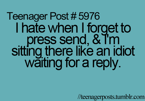 Hate when I do this