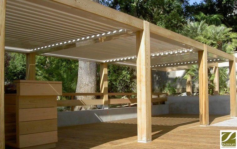 pergola bioclimatique biossun. Black Bedroom Furniture Sets. Home Design Ideas