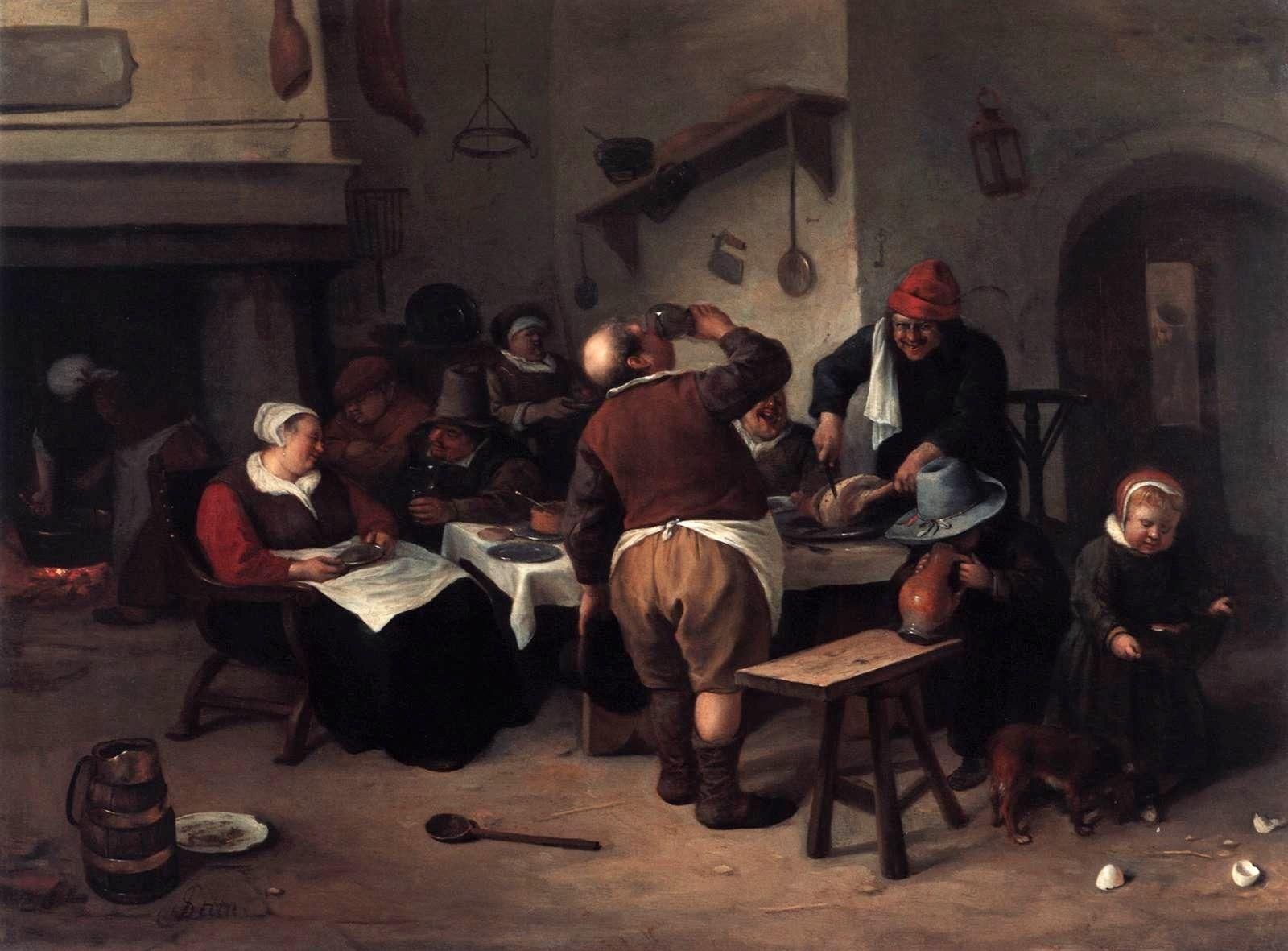 Kitchen Art Leiden.Siftingthepast The Fat Kitchen Steen 1668 Three Musketeers