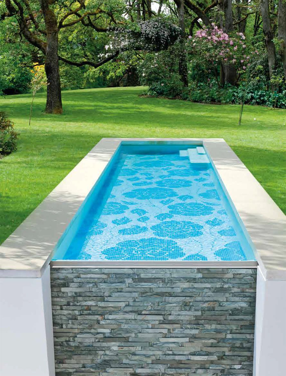 Mosaic Tile Pool Designs shadow green turtles swimming pool tile Pool Mosaic Zante Designed For Bisazza By Carlo Dal Bianco