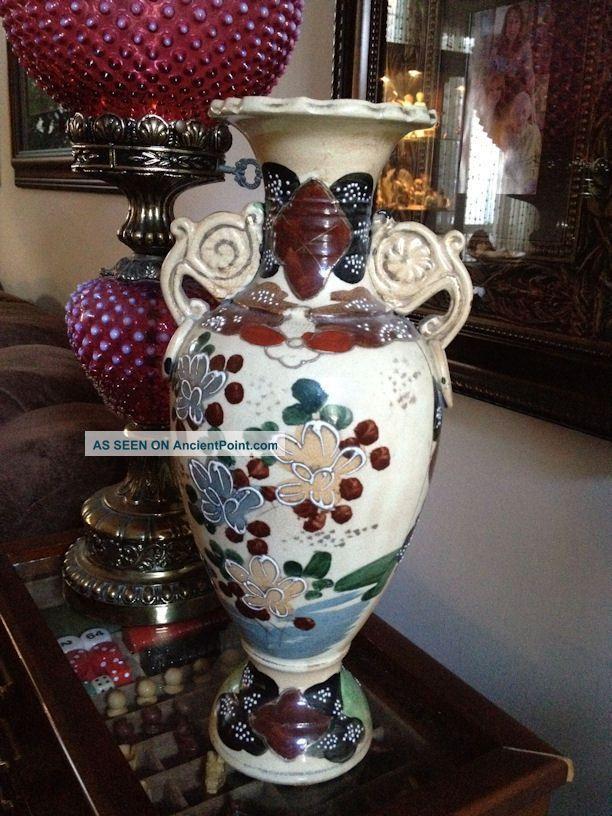 Japanese Moriage Vase Moriage Antique Japanese Moriage Large Vase