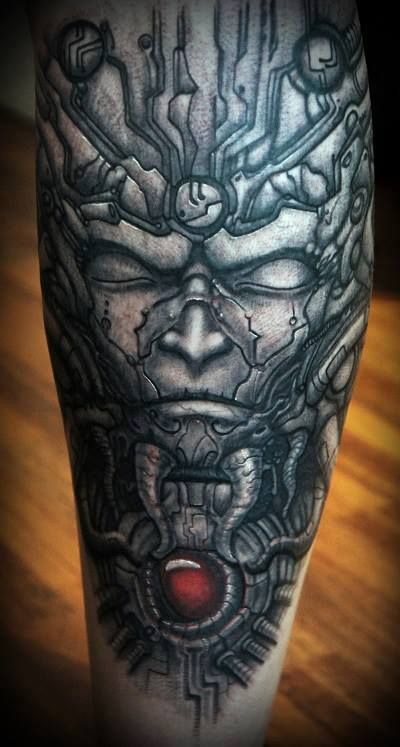 TATTOO OF NI LS.........PARTAGE OF H.R. GIGER.........ON ... H.r. Giger Tattoo