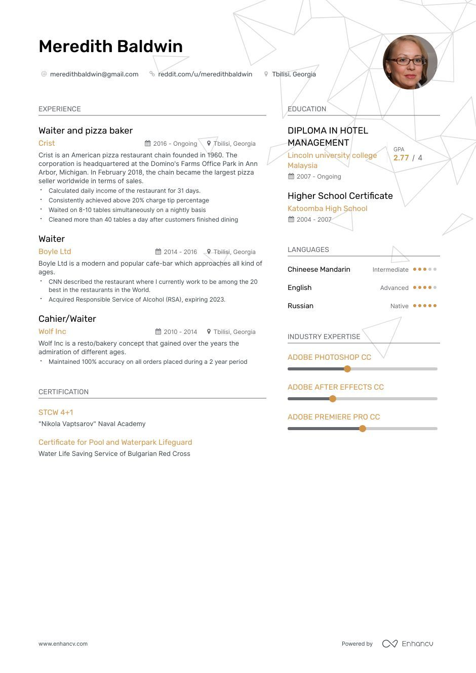 Top Waiter Resume Examples & Samples for 2020 Resume