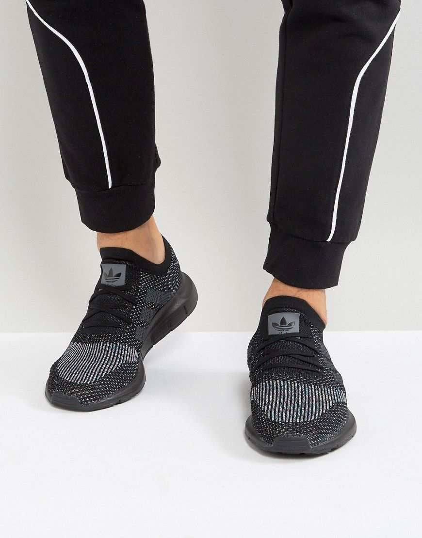 ADIDAS ORIGINALS SWIFT RUN PRIMEKNIT SNEAKERS IN BLACK CG4127 - BLACK.   adidasoriginals  shoes   a77f08050b743