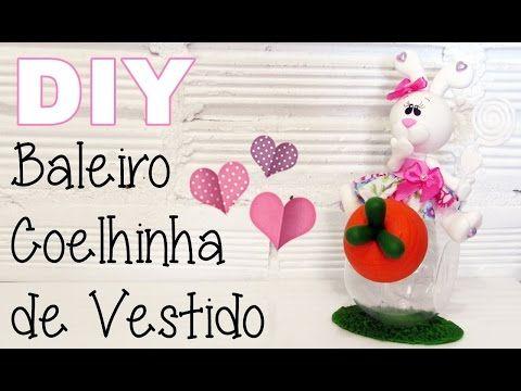 (DIY) Baleiro Coelhinha de Vestido em Biscuit - YouTube