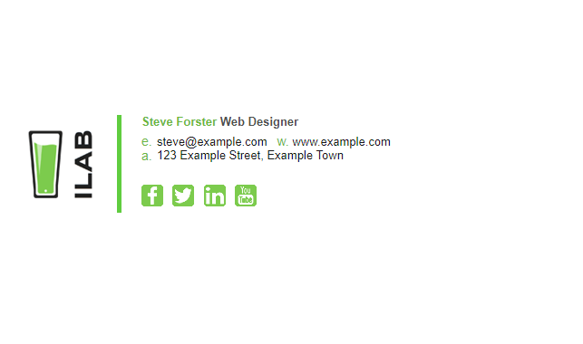 professional email signature example