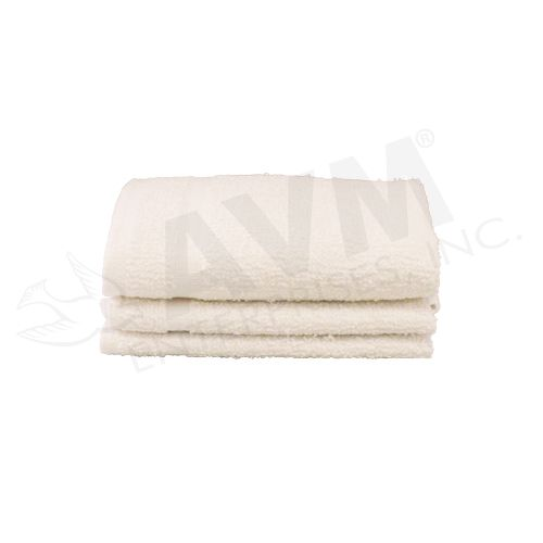 9af3b2a83d9 12x12 (1 lb) White 100% Terry Cotton Economy Towel